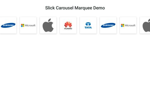 Slick Carousel Marquee Demo