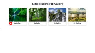 Bootstrap jquery Gallery